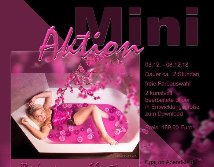 Mini-Aktion: Badewannen-Shooting